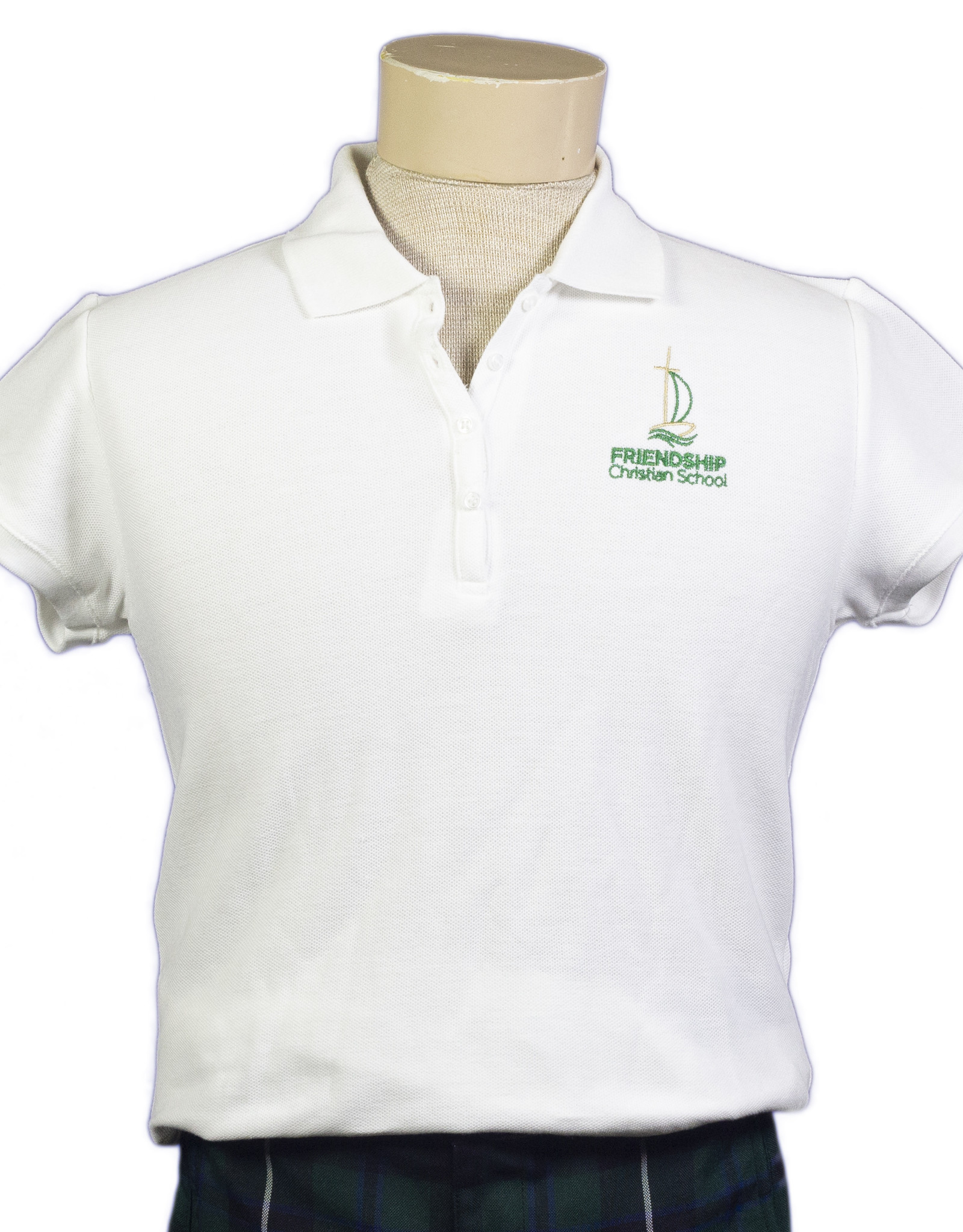 Girls short-sleeve polo (9715) with FCS logo