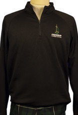 1/4 Zip Dry Fit Black Adult
