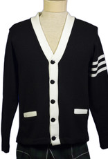 Cardigan  3- Stripe  Adult and Youth