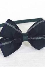 Green Headband with Plaid bow