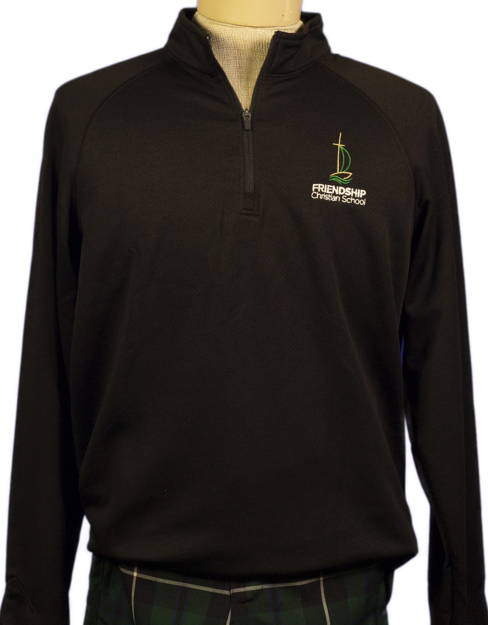 Dry-fit quarter-zip youth (6135) with FCS Logo