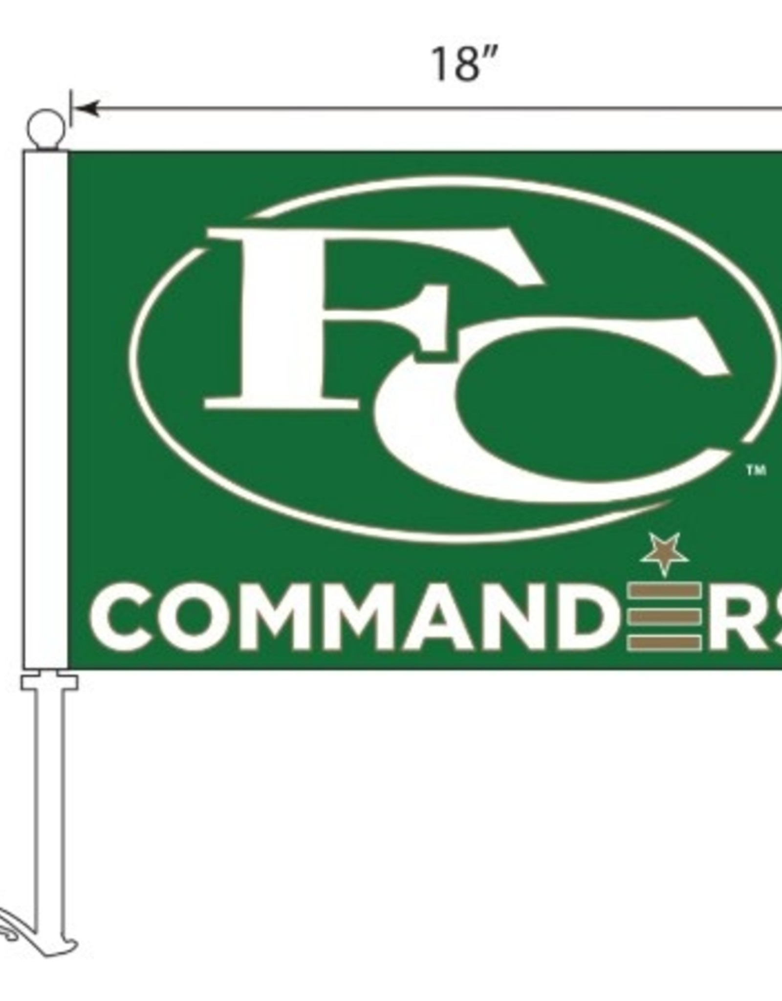 CAR FLAGS, FC, GREEN