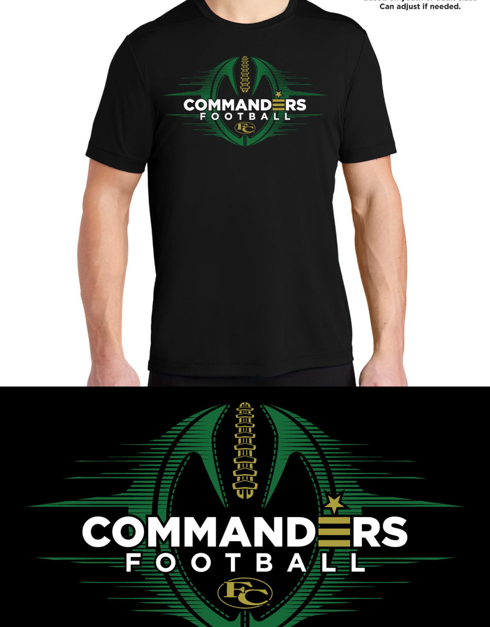 Commanders Football Black