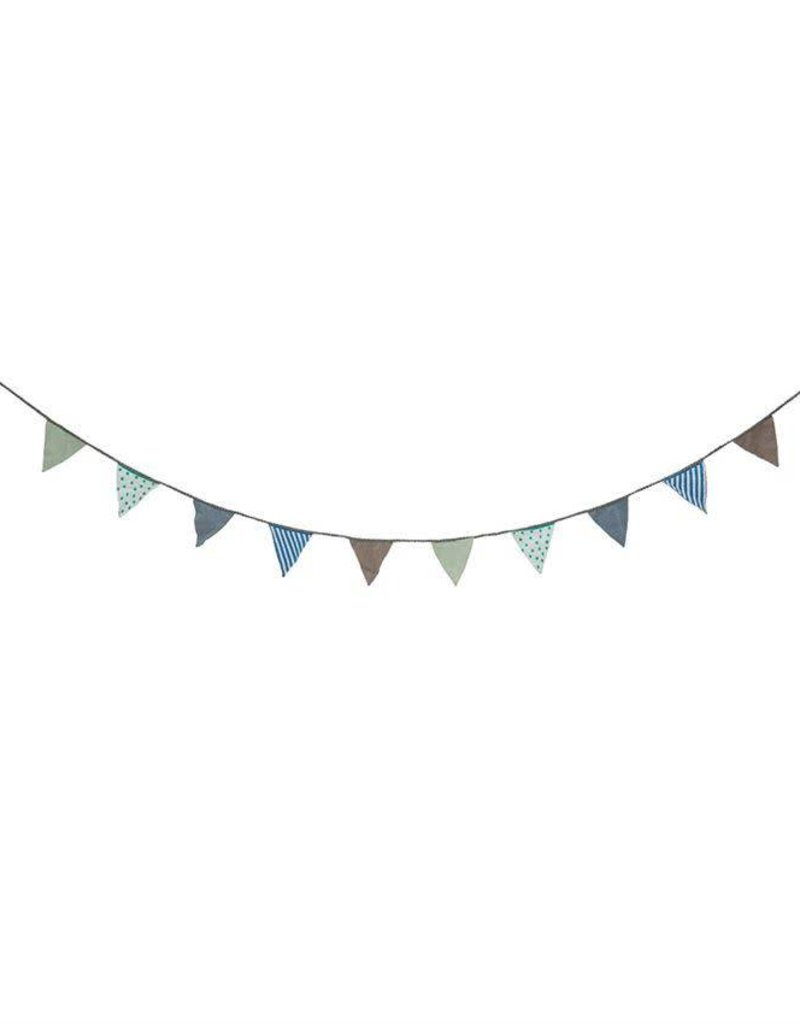 Fabric Banner - Grey, Blue, Green