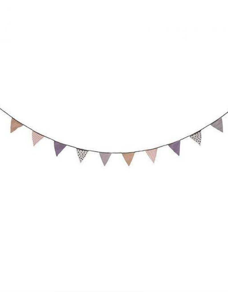 Fabric Banner - Powder Blush, White, Purple
