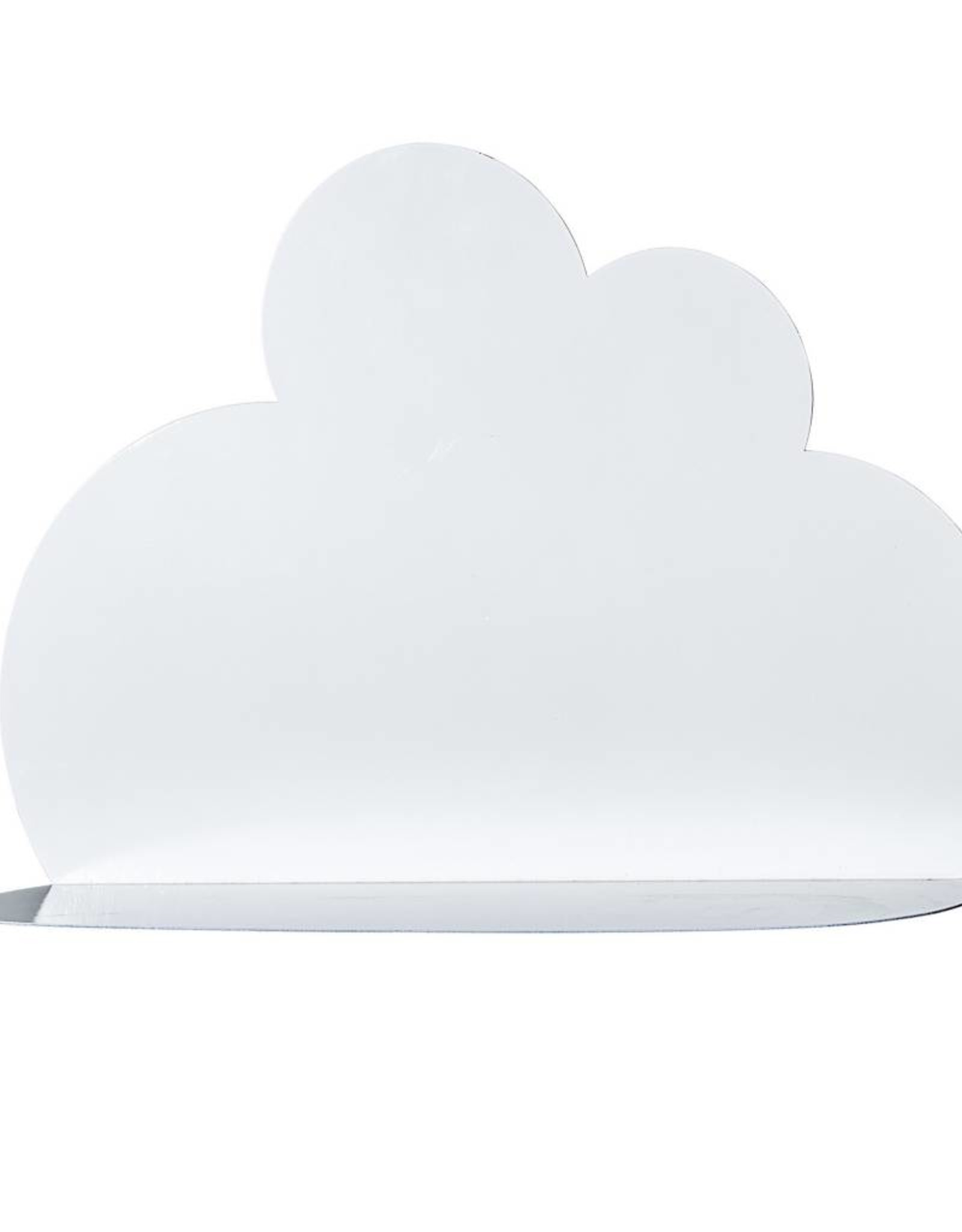 Metal Cloud Shaped Shelf - White