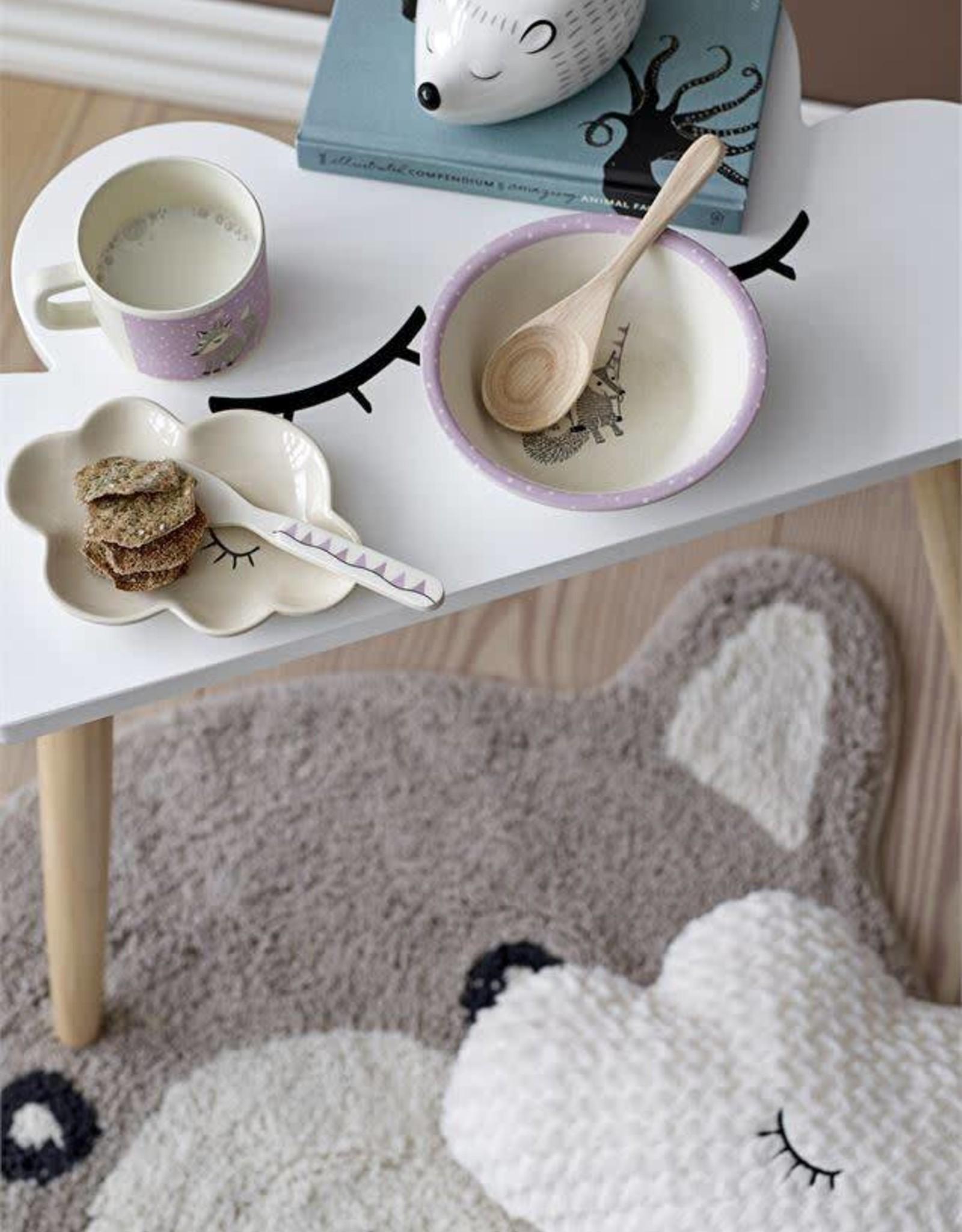 Stoneware Hedgehog Flower Pot, White