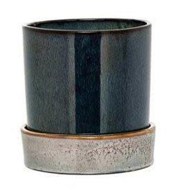 Ceramic Flower Pot w/ Saucer