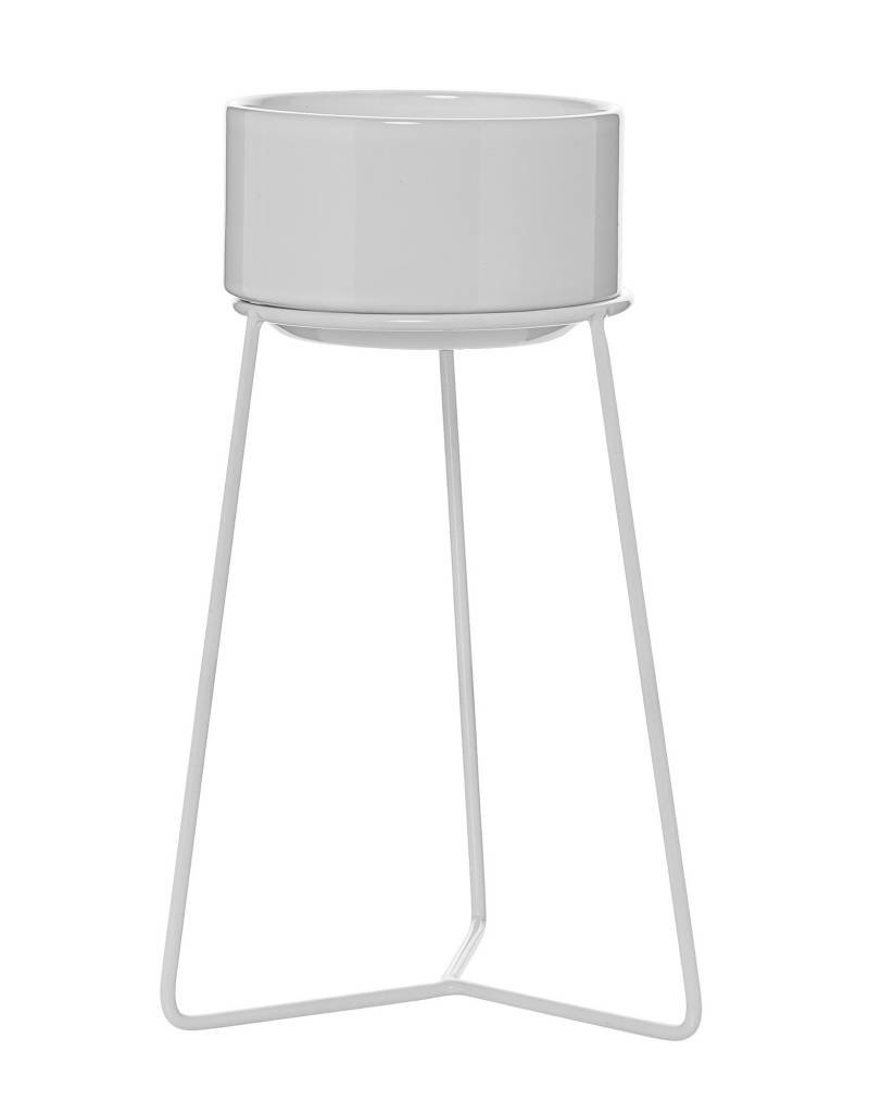 Flower Pot w/ White Stand