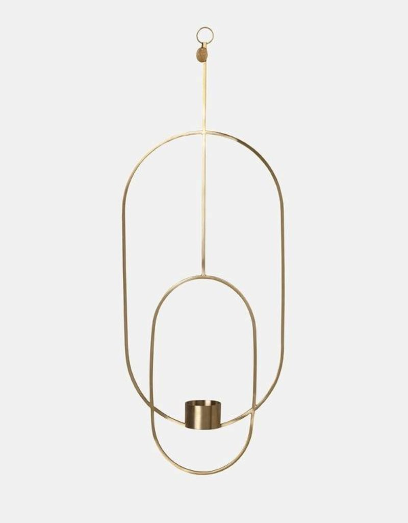 Ferm Living Hanging Tealight - Oval - Brass