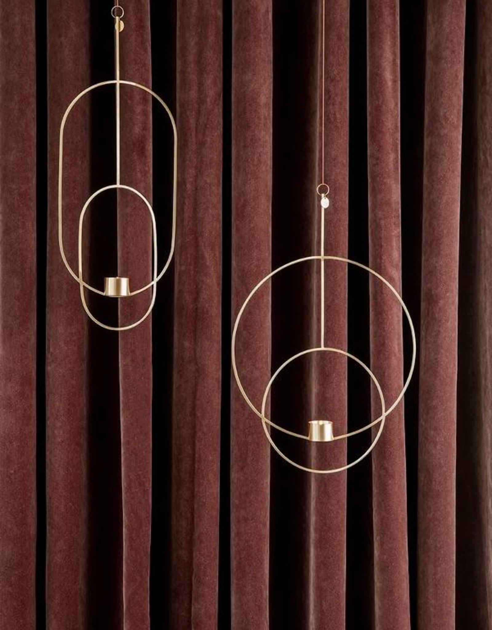 Ferm Living Hanging Tealight - Oval - Brass