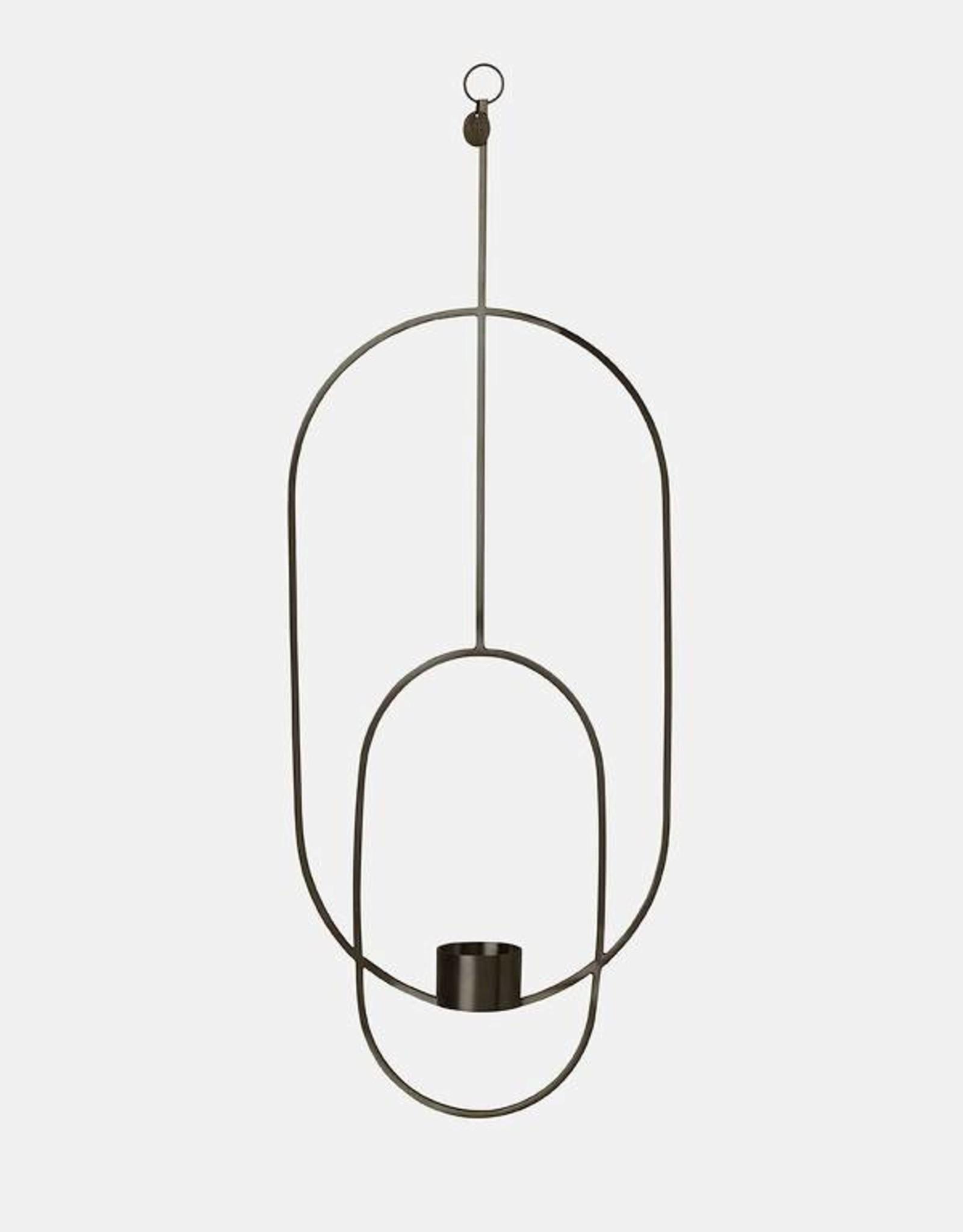 Ferm Living Chandelier Suspendu - Ovale - Noir
