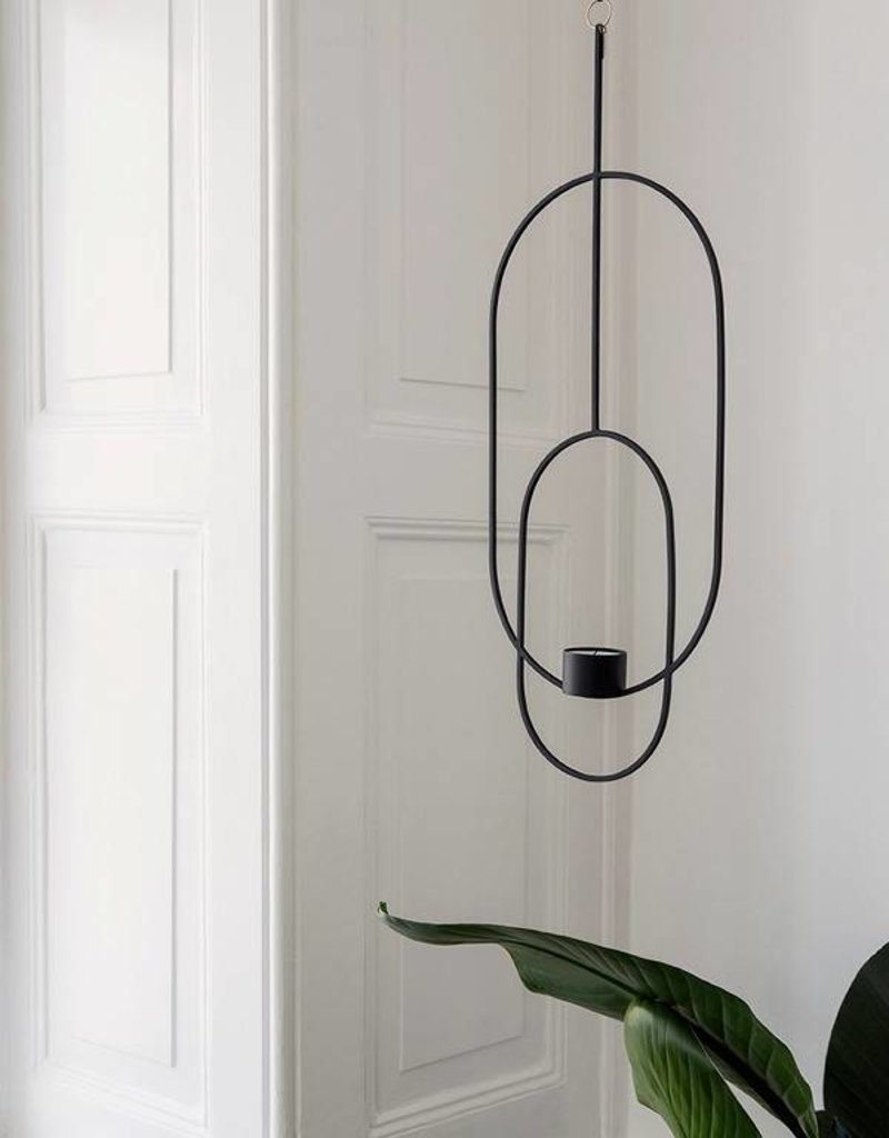 Ferm Living Hanging Tealight - Oval - Black
