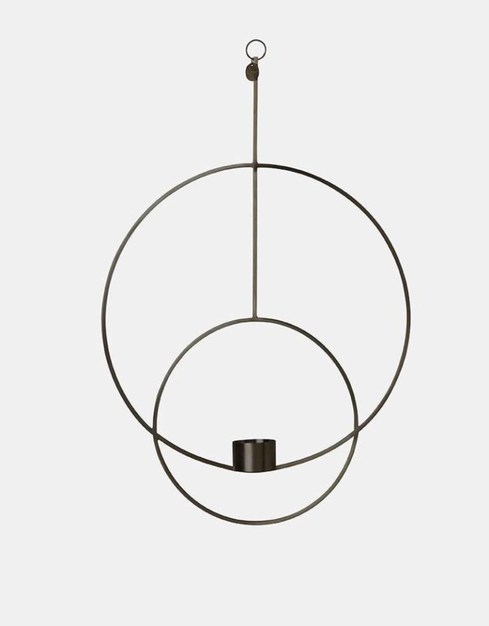 Ferm Living Hanging Tealight - Circular - Black