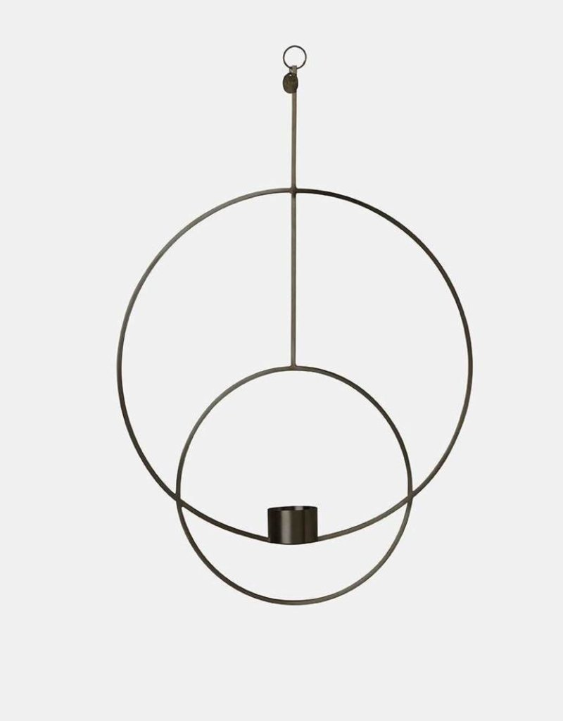 Ferm Living Hanging Tealight - Circular - Black