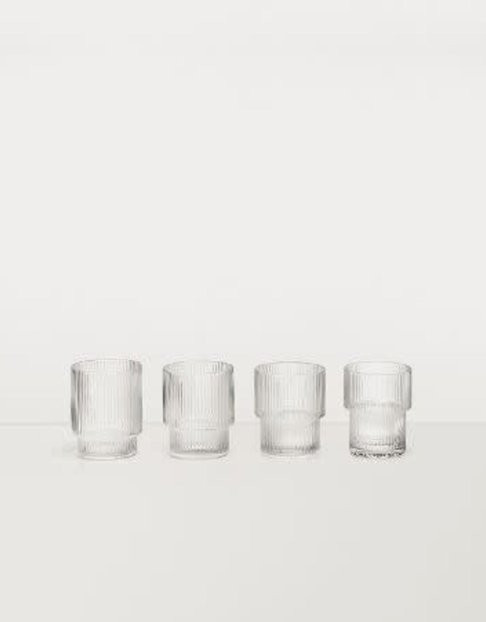 Ferm Living Ripple Glasses (Set of 4)