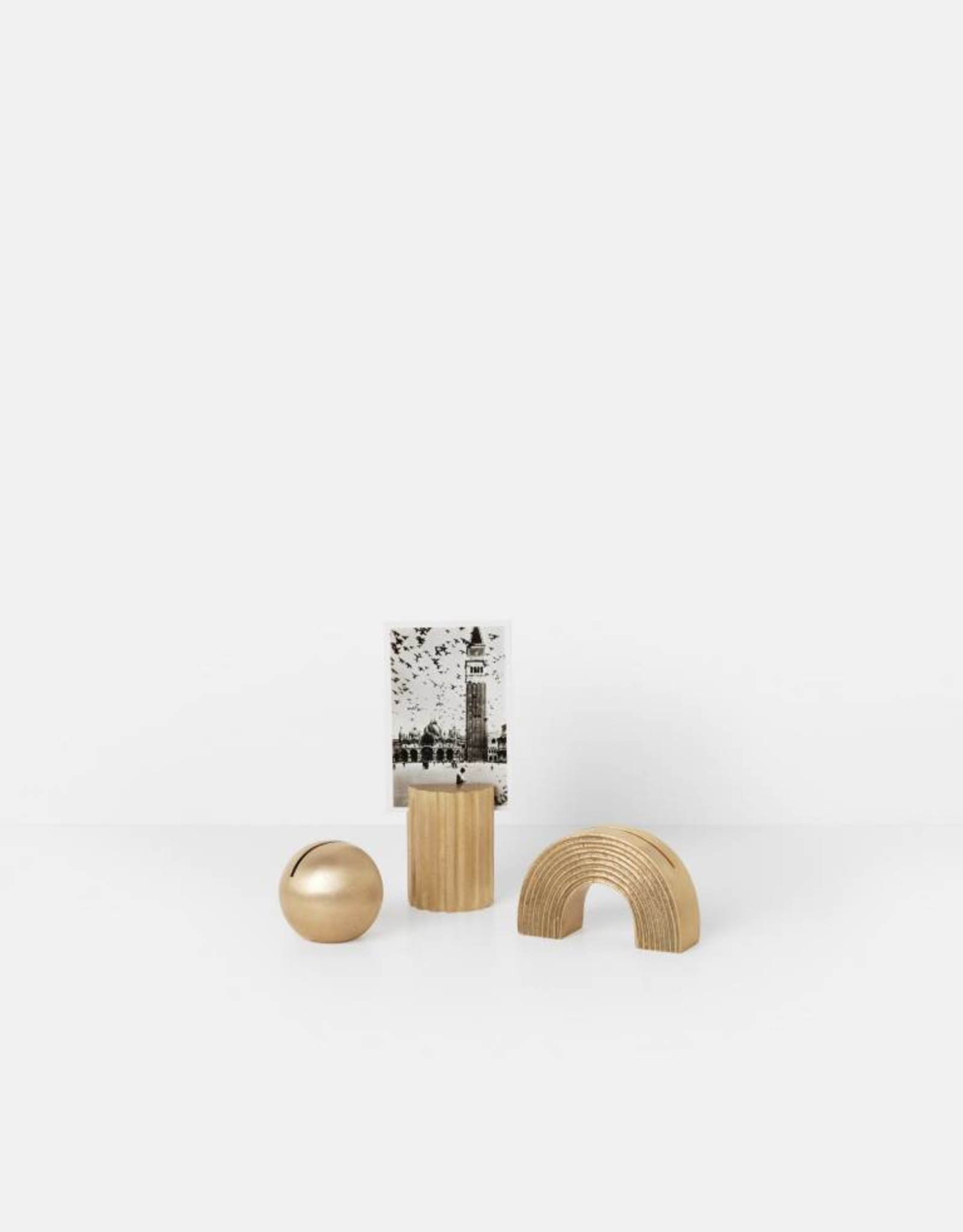 Ferm Living Card Stand - Brass - Sphere