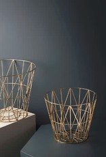 Ferm Living Wire Basket - Brass - Large