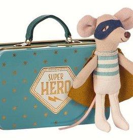 Maileg Souris de super-héros dans une valise