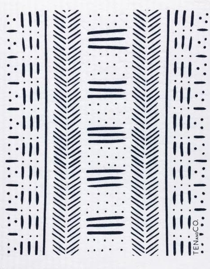 Ten and Co. Sponge Cloth - Mudcloth - Black
