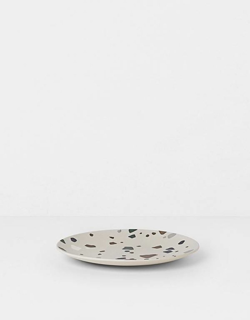 Ferm Living Terrazzo Bamboo Plate - Grey