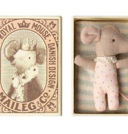 Maileg Souris bébé - Sleepy/Wakey en boîte - Fille
