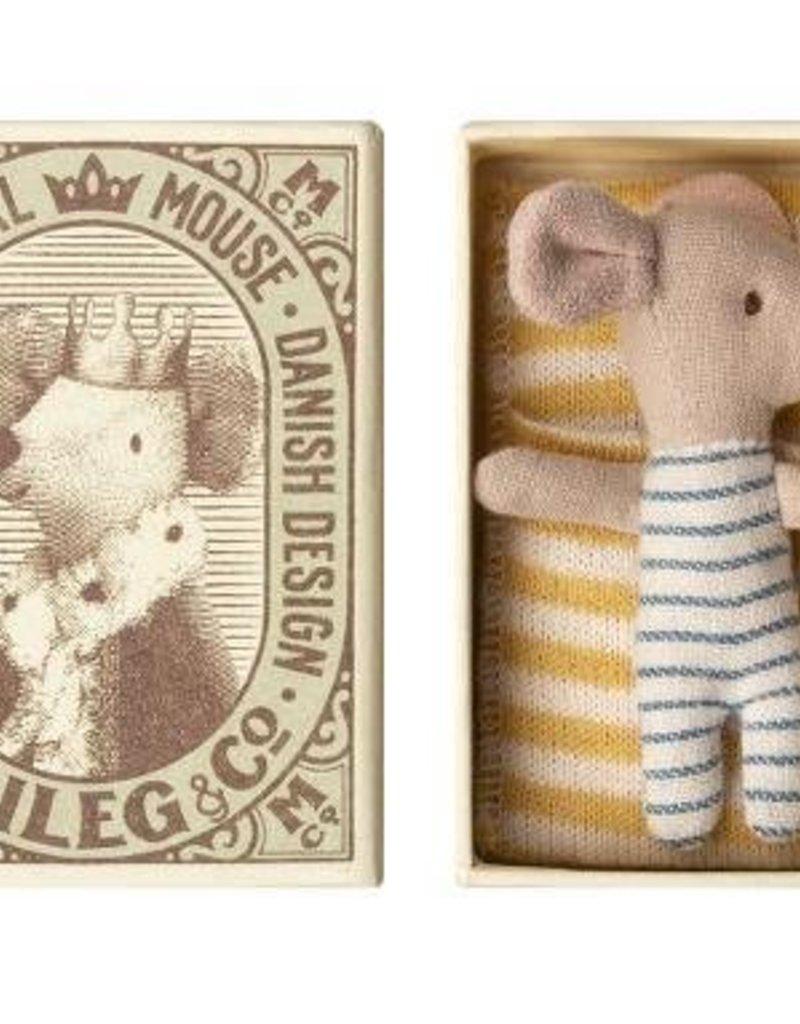 Maileg Baby Mouse - Sleepy/Wakey in box - Boy