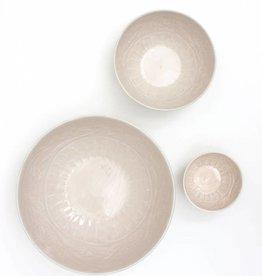 Enamel Bowls Set of Three - Cream