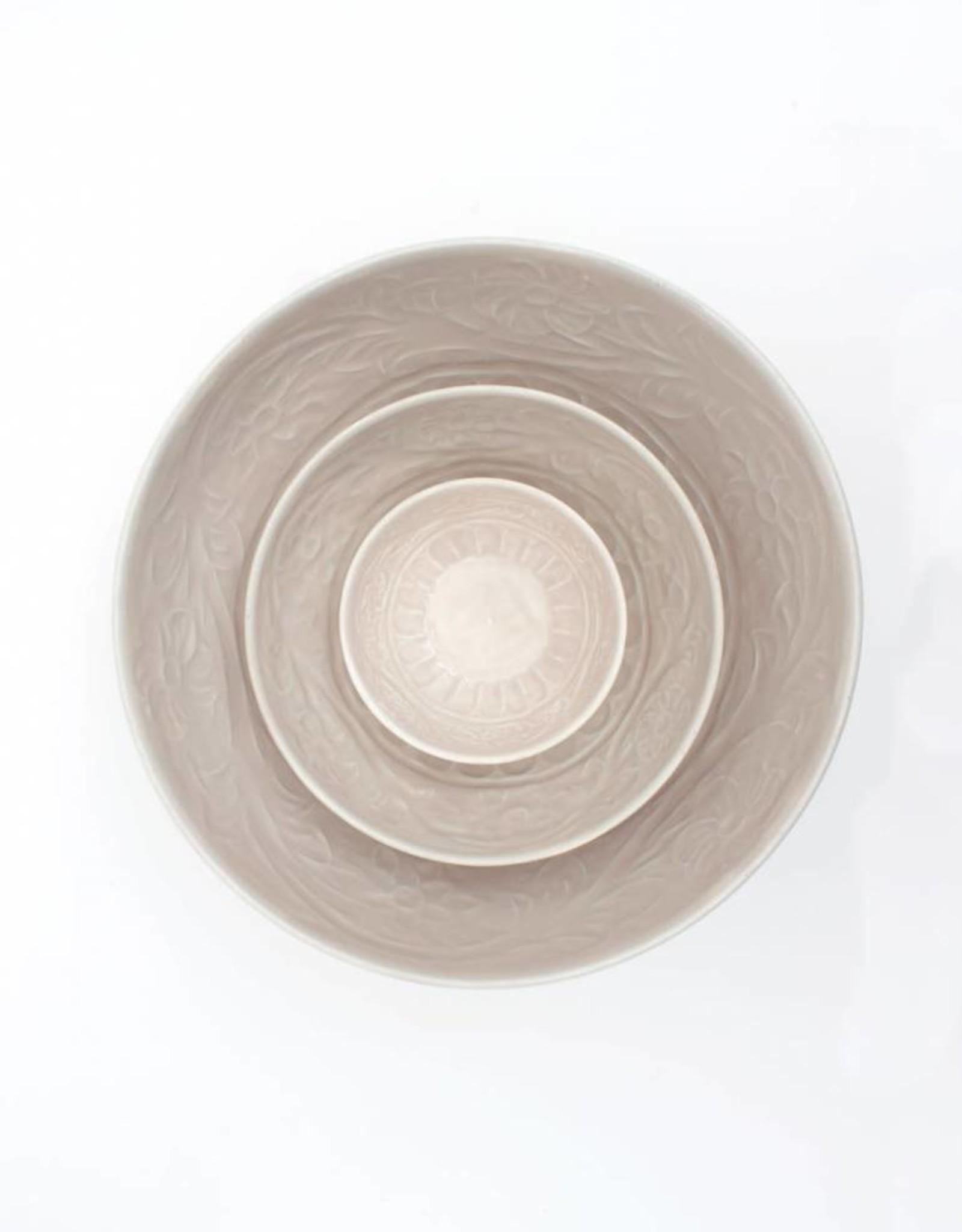 Enamel Bowls, Set of Three - Cream