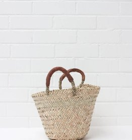 Beldi Leather Baskets, Tan - Small