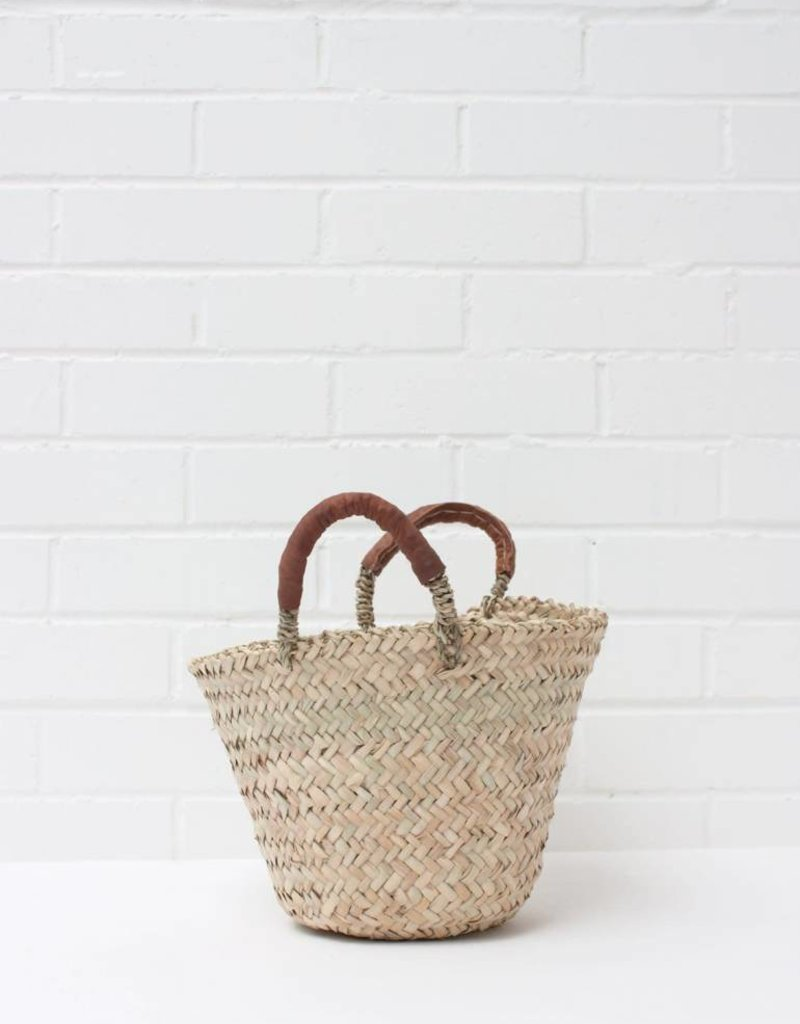 Beldi Leather Basket - Tan - Small