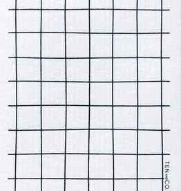 Ten and Co. Sponge Cloth - Grid - Black