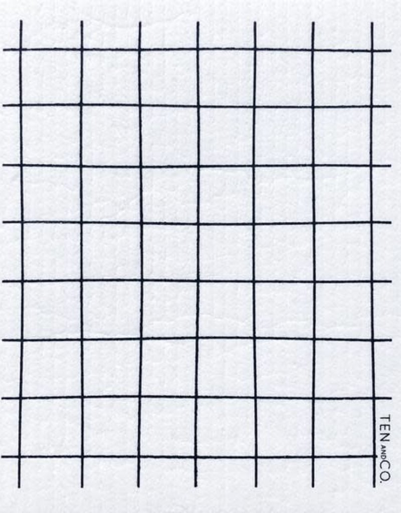 Ten and Co. Sponge Cloth - Grid - Black