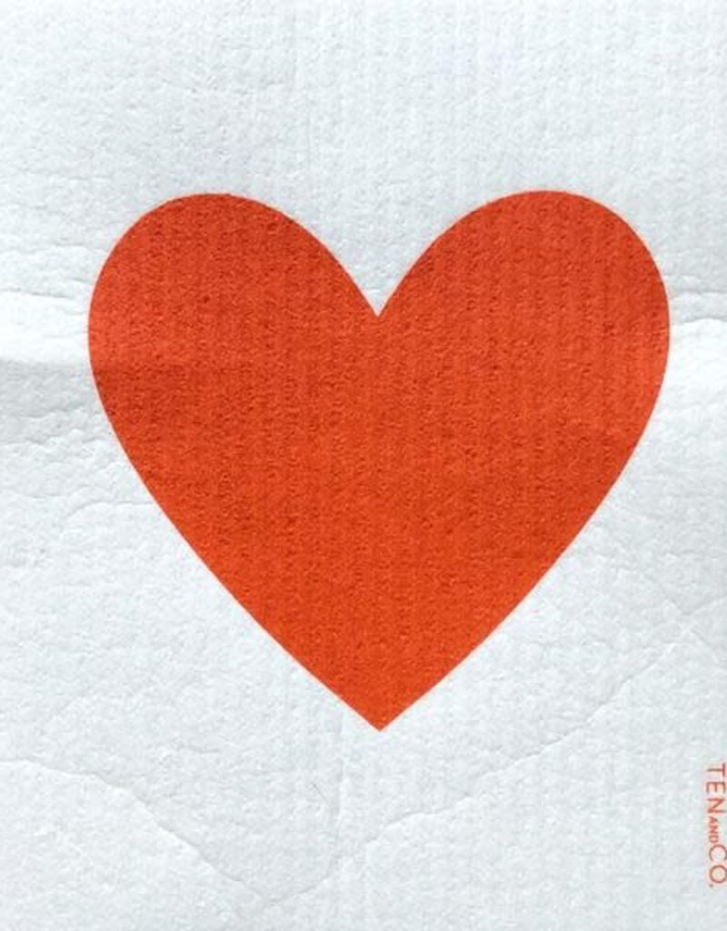 Ten and Co. Sponge Cloth - Big Love Red
