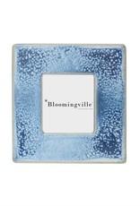 "6"" Square Reactive Glaze Stoneware Frame - Blue"