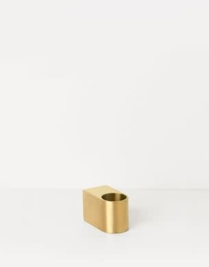 Ferm Living Block Candle Holder - Brass - Small