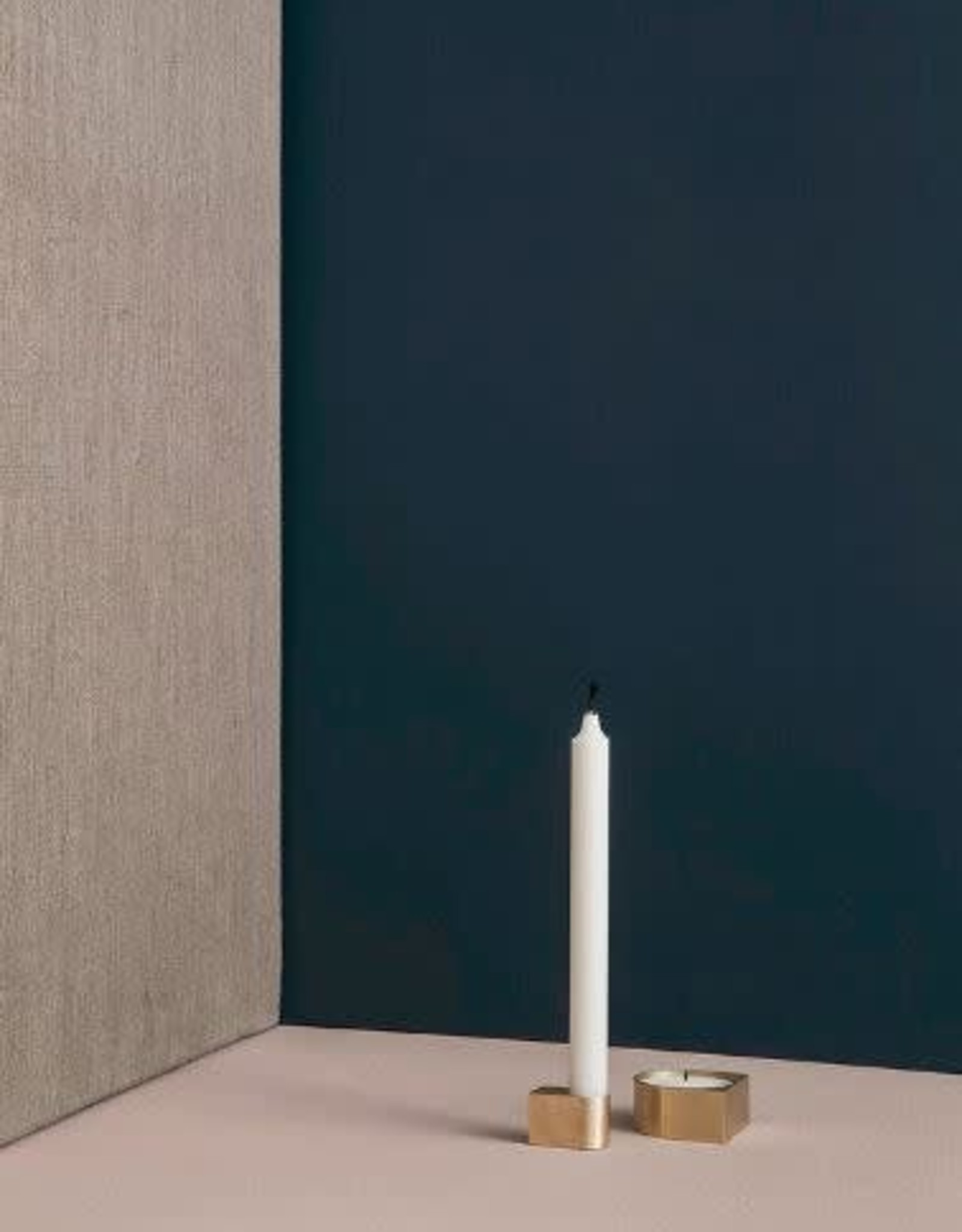 Ferm Living Bougeoir Block - Laiton - Petit