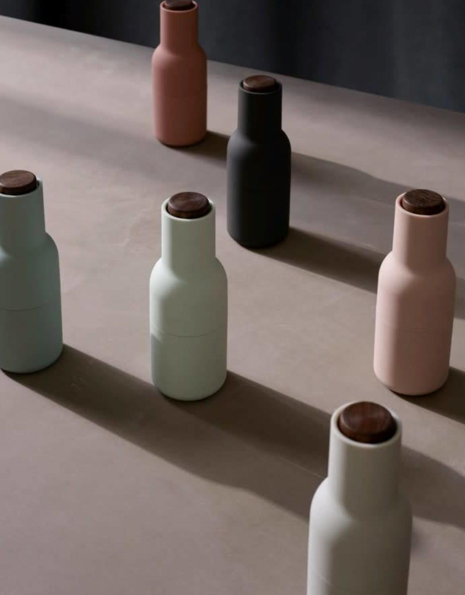 Menu Bottle Grinder - Carbon/Ash, Beech Lid (Set of 2)