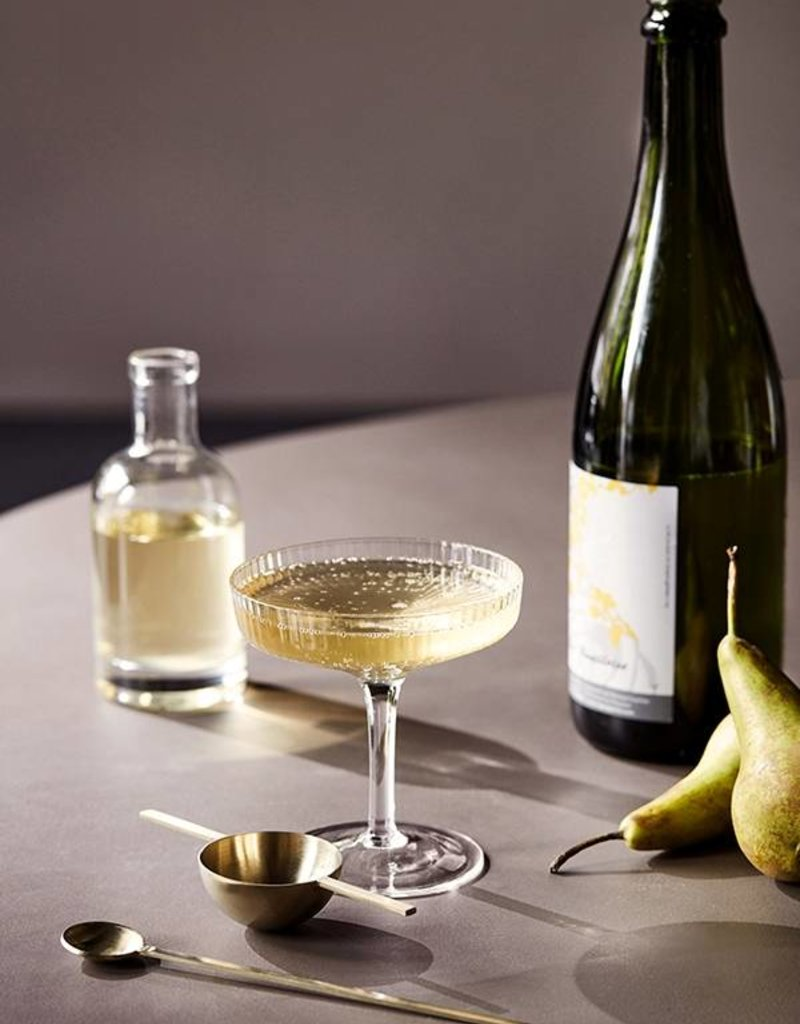 Ferm Living Ripple Champagne Saucers (Set of 2)