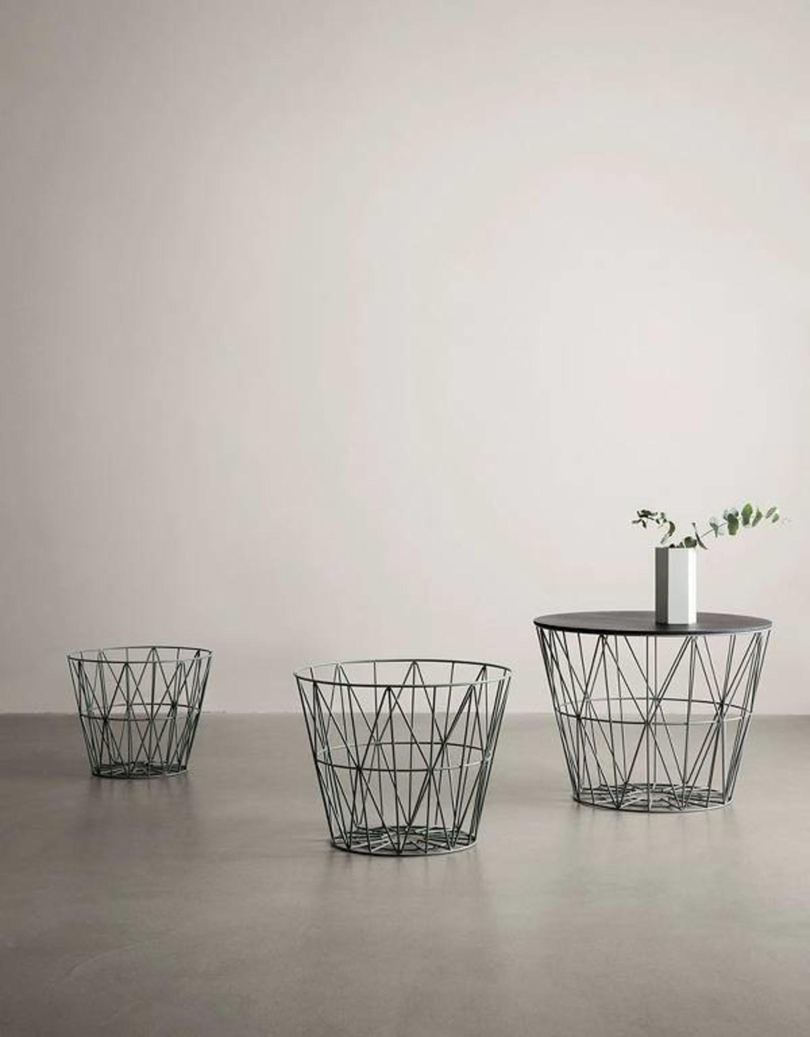 Ferm Living Wire Basket - Small - Dusty Green