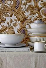 Stoneware Bowl w/ Bamboo Lid - Cream