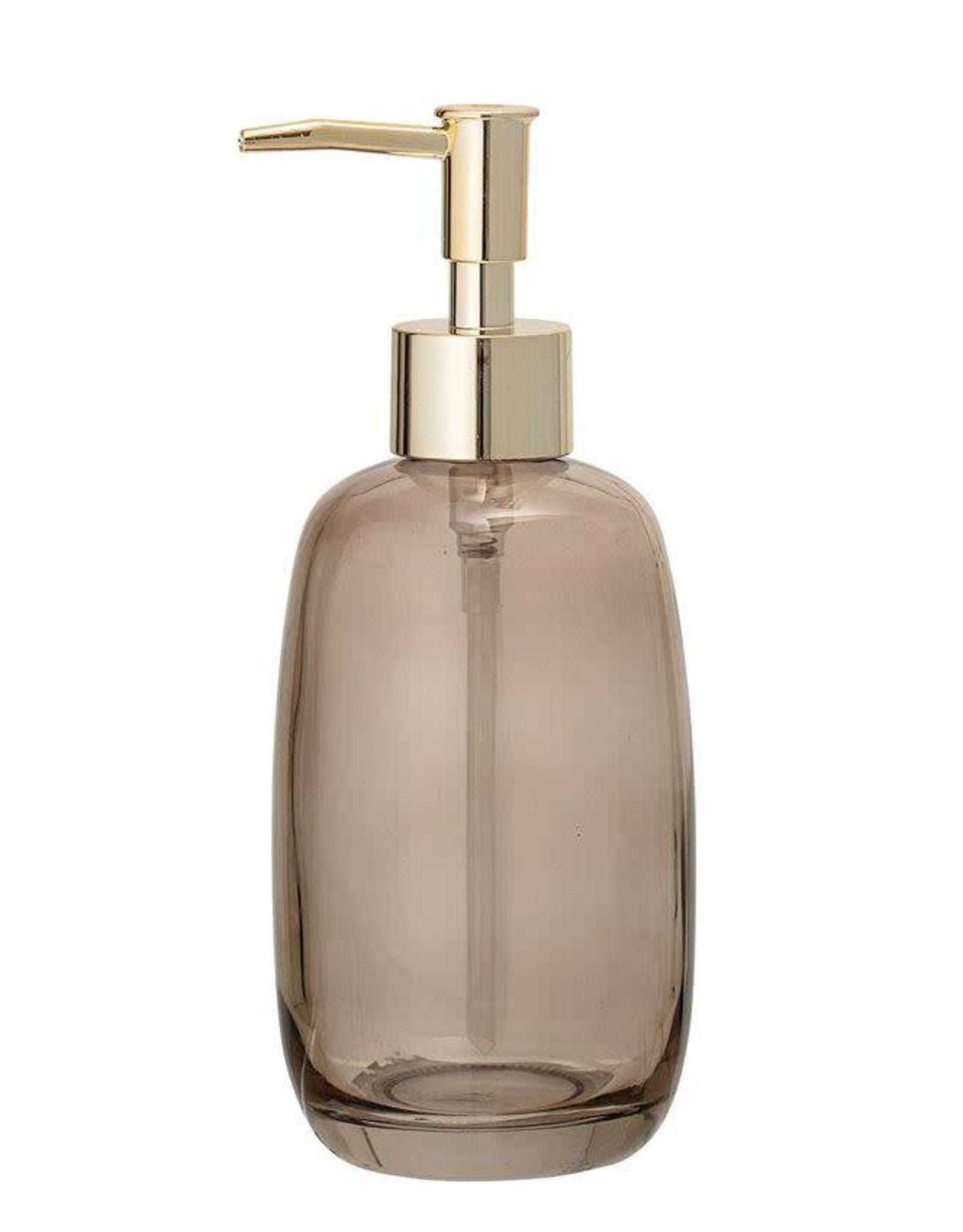 Glass Soap Dispenser w/ Pump - Smoke