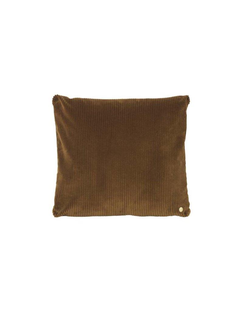 Ferm Living Corduroy Cushion - Golden Chocolate