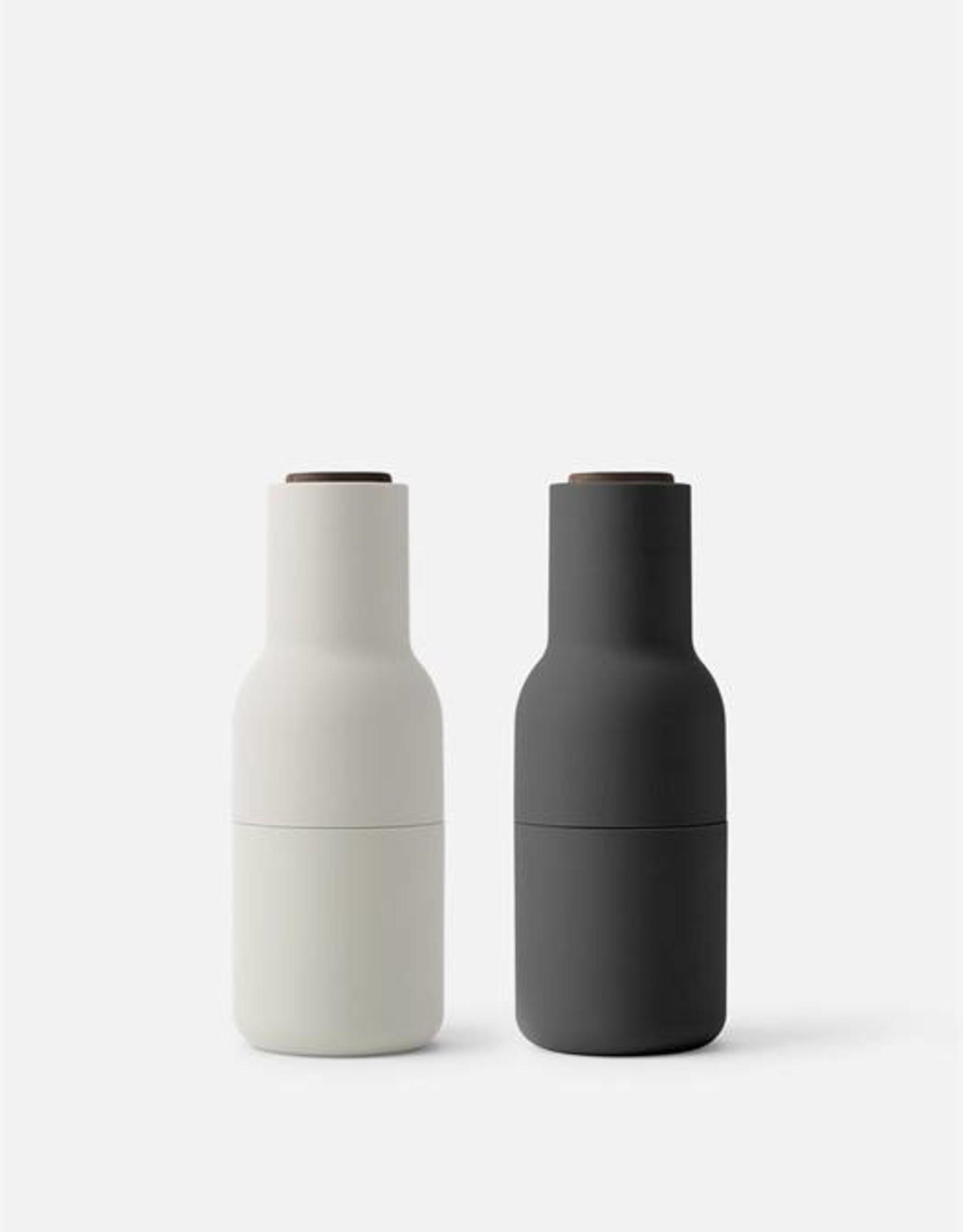 Menu Bottle Grinder - Carbon/Ash, Walnut Lid (Set of 2)