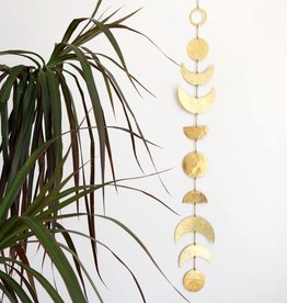 Vida + Luz Wall Hanging/Mobile Brass - Moon Phases
