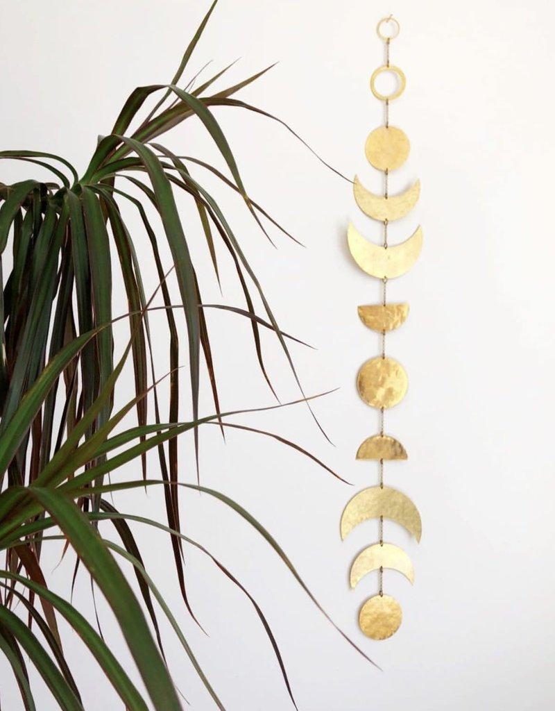Vida + Luz Décor Mural Laiton - Moon Phases