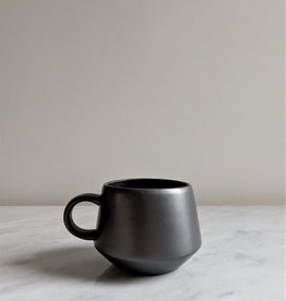 Bloomingville Stoneware Mug, Black Matte Glaze 12oz