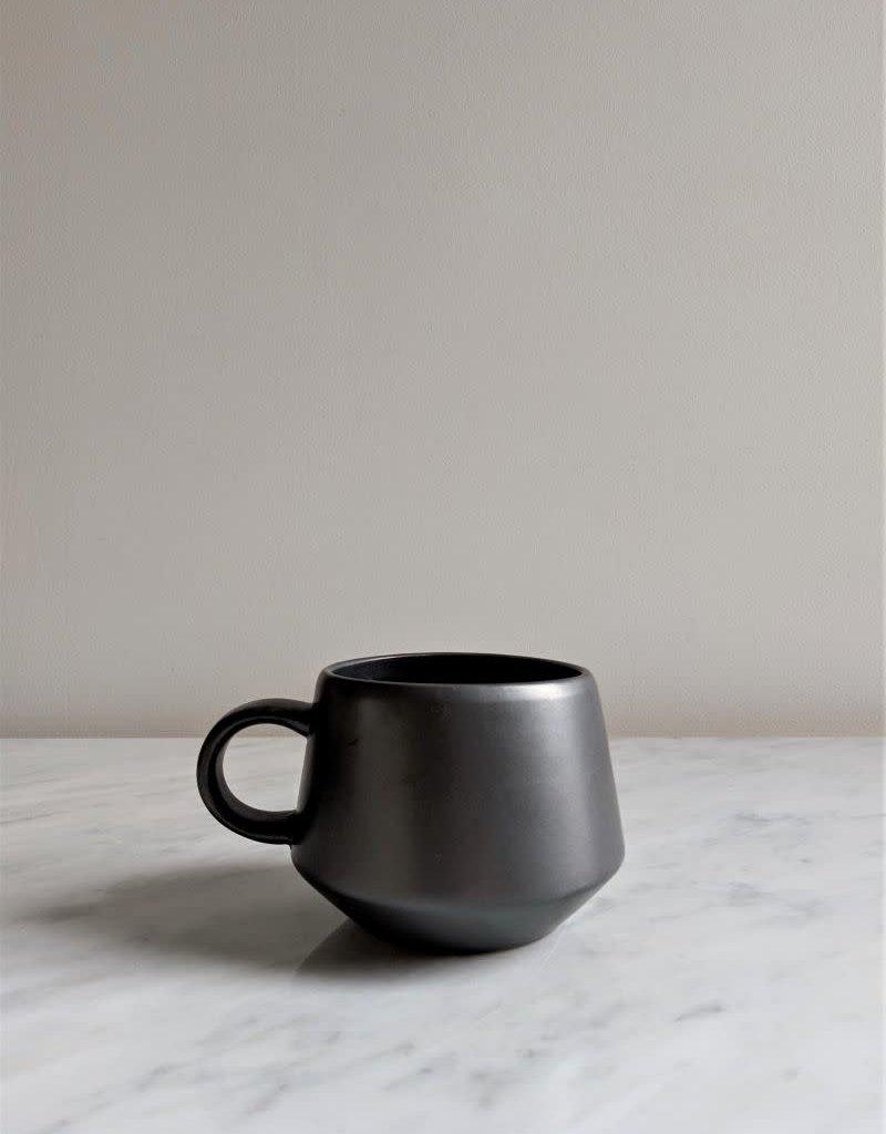 Stoneware Mug, Black Matte Glaze 12oz