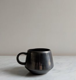 Stoneware Mug, Black Metallic Glaze 12oz
