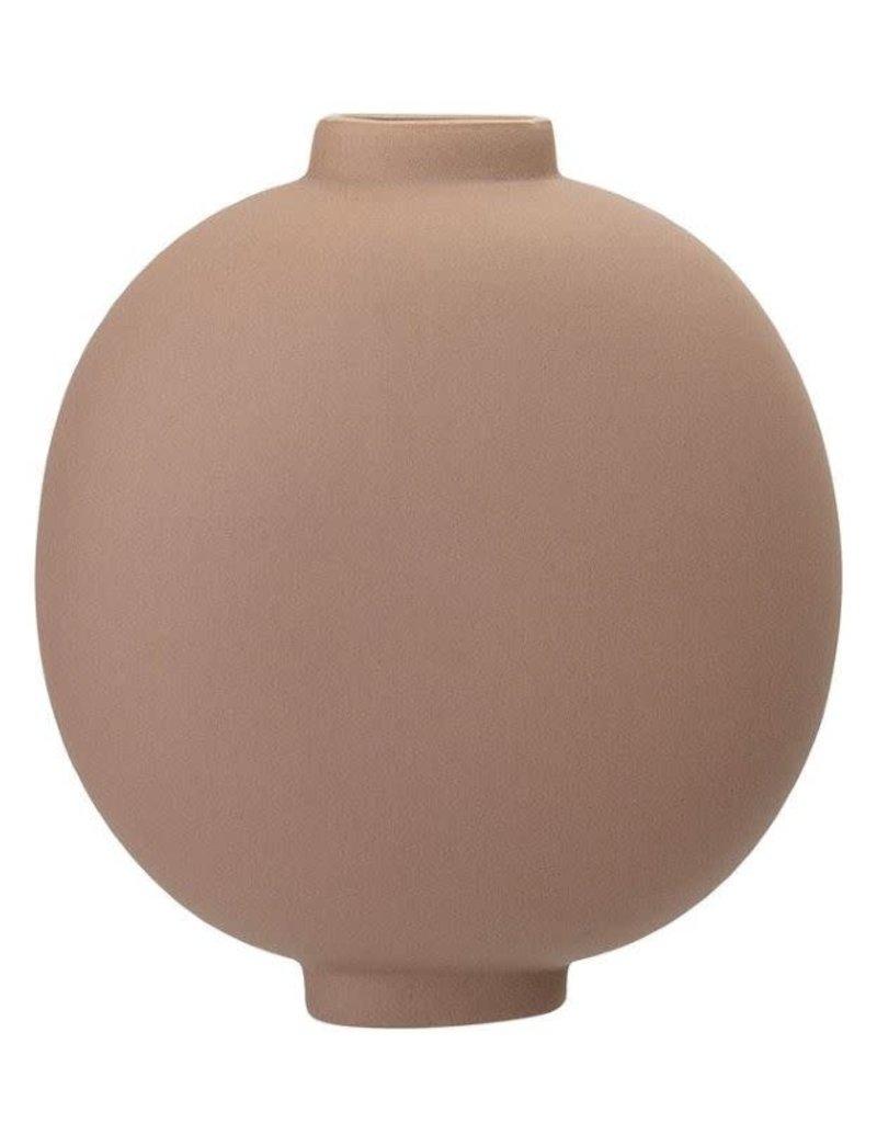 Stoneware Vase, Matte Nude Finish